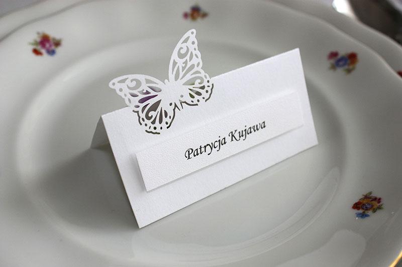 Winietki - Motylki małe - Ecru