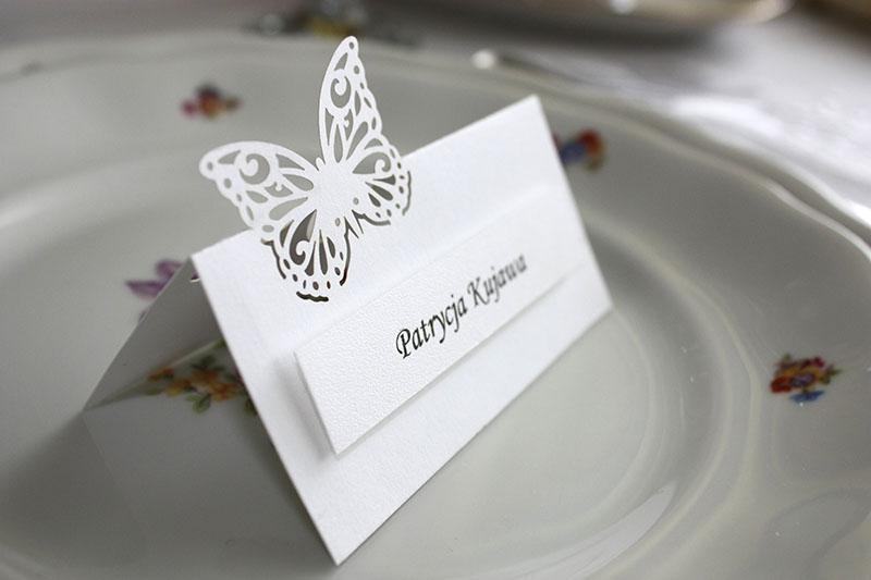 Winietki - Motylki małe - białe